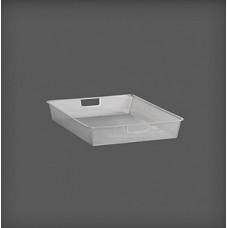 Coș din plasă măruntă metalică 427x527x85 mm, argintiu