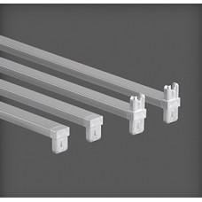 Bară metalică transversală 450 x 20 x 44 mm, argintie