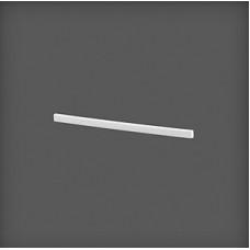 Capac de stânga din plastic pentru clemă 320x8x16 mm, alb