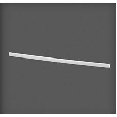 Capac de dreapta din plastic pentru clemă 500x8x16 mm, alb