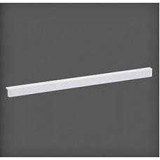 Bandă decorativă pentru poliță din lemn 607x34x32 mm, alb