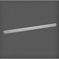 Bară de fixare metalică pentru poliță 907x9x31 mm, argintie
