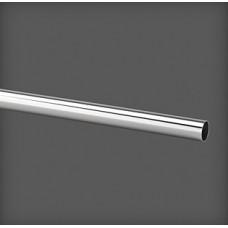 Bară pentru haine metalică cromată 1245x25x25 mm