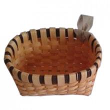 Coș oval din așchii de lemn 220x180x110 mm