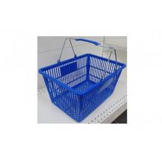 Coș din plastic (2 mânere metalice) 445x285x245, albastru