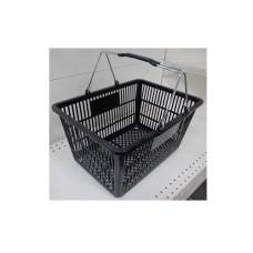 Coș din plastic (2 mânere metalice) 445x285x245, negru