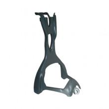 Cărucior din plastic pentru suport coș KERY, gri