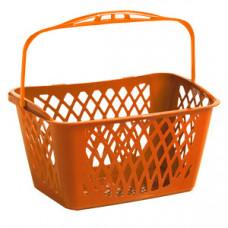 Coș din plastic TYKO 33 LT (mâner oranj), oranj