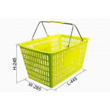 Coș din plastic №3, galben