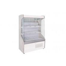 Vitrină frigorifică de perete pentru legume, cu perdea de noapte R290, cu iluminare, L=1000 mm