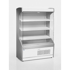 Vitrină frigorifică de perete pentru carne/mezeluri, cu perdea de noapte R290, cu iluminare, L=1300 mm