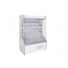 Vitrină frigorifică de perete pentru legume, cu perdea de noapte R290, cu iluminare, L=1300 mm