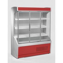 Vitrină frigorifică de perete pentru legume, cu uşi din sticlă R290, cu iluminare, L=1500 mm