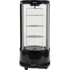 Vitrină frigorifică 73 l,  504X504X1060mm, negru