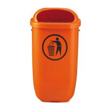 Coş pentru gunoi din plastic 50l, oranj