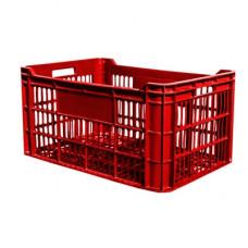 Ladă din plastic A114, 600x400x300 mm, roşu