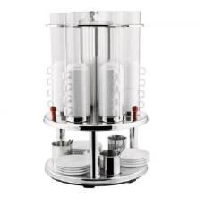 Dispenser pentru cești, 400x400x650 mm, 8 buc.