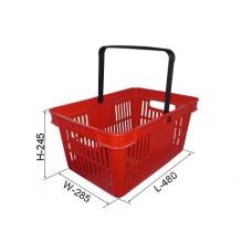 Coș din plastic (mâner din plastic) 480x325x250, roșu