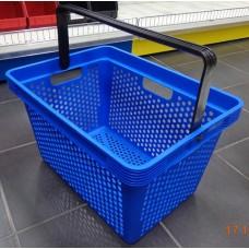 Coș din plastic (mâner din plastic) 485x325x265, albastru