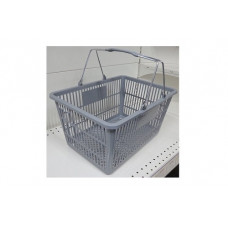 Coș din plastic (mâner metalic) 445x285x245, gri