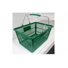Coș din plastic (mânere metalice) 445x285x245, verde
