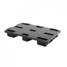 Palet din plastic 1200x800 mm, negru