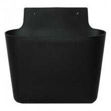Buzunar de perete din plastic 400x115x385 mm, negru