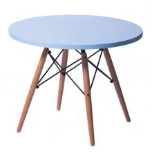 Măsuță pentru copii, din lemn cu suport metalic, albastru