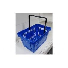 Coș din plastic (mâner din plastic) 445x290x245, albastru