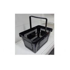 Coș din plastic (mâner din plastic) 445x290x245, negru