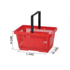 Coș din plastic (mâner din plastic) 445x290x245, roșu