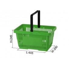 Coș din plastic (mâner din plastic) 445x290x245, verde