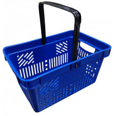 Coș din plastic (mâner din plastic) 470x310x250, albastru
