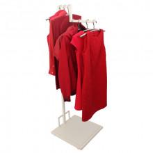 Suport pentru îmbrăcăminte de tip Z din oţel, 500x500x1150/1650 mm (9001)