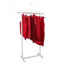 Cuier pentru îmbrăcăminte cu suport pentru preţ din oţel, 845x400x1300/1700 mm (9001)