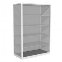 Vitrină de perete B0, 1000x500x1500 mm, 4 poliţe de sticlă, RAL9010 (alb)